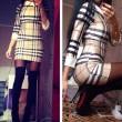 Geometry Stripes Plaid Long-sleeved Slim Dress