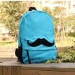 Fashion Cute Mustache Pattern Canvas Backpacks