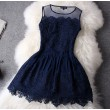 Nice Lace Hollow Out Hook Flower Skirt&Party Dress