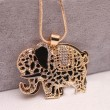 Sweet Cute Animal Rhinestone Elephant  Necklace