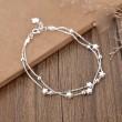 Sweet Double Stars Layer Bracelet Girlfriends Gift Jewelry Lover Present Women Bracelet