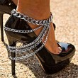 Punk Alloy Footwear Street Feet Accessory Anklet Style Multi-layer Tassel Anklet