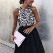 Sexy Prom Dress Halter Black Sleeveless Party Sequin Dress