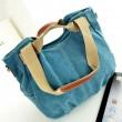 Fashion Leather Canvas Multi-purpose Handbag&Shoulder Bag