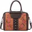 Retro 3D Flower Leaves Rivet Original Handbag Shoulder Bag