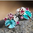 Fashion Multifunctional Lotus Leaf And Flower Folk Earring &Necklace &Bracelet