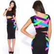 Sexy Colorful Bandage Bodycon Dress