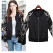 Sequin Embroidered Cotton Jacket Baseball Uniform