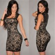 Elegant Sleeveless Embroidered Tight Dress Party Dress