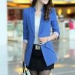 Elegant Floral Lace Cuff Lapel Long Suit Coat