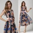Summer New Personalized Fashion Sleeveless Printed Chiffon Dress