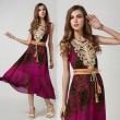 Classic Silk Retro Printing Sleeveless Dress