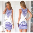 Retro Blue And White Porcelain Dress Suits
