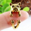Original Cute Shar Pei Dog-shaped Alloy Opening Ring