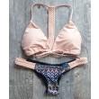Pink Weave Geometry Sexy Bikini
