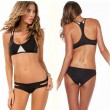 Fashion Top Bikini Contraster Color Triangle Swimsuits Bikini Set