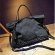 Vintage Leather Rivets Shoulderbag Messenger Bag Handbag Motorcycle Bag