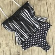 Tassel And Dot Swimsuit Sexy Bikini Bathing Suit Swimwear