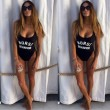 Gather Slim For Women Sexy Printing Swimsuit Siamese Bikini