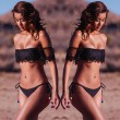 Sexy Strapless Collar Black Lace Bikini Swimsuit Swimwear Bathingsuit