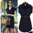 Elegent Style Geometry Stripes Plaid Long-sleeved Slim Dress