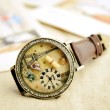 romantic Paris Tower cartoon rhinestone retro watch