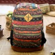 Folk Style Geometry Totem Canvas Backpack