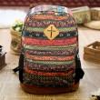Folk Style Geometry Totem Canvas Backpack