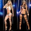 Sexy Strappy Leg Lingerie For Women Bra Panty 2 Piece Halter Bandage Lingerie