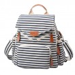 Navy Style Striped Canvas New Multi-function Shoulder Bag Handbag Backpacks
