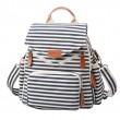 Novelty Striped Canvas New Multifunction Bag Backpack Handbag Shoulderbag