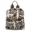 Vintage Literary Totem Printed Multifunction Backpack Shoulderbag Travel Backpack