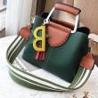 Leisure Girl's PU Tassels Letter Star Handbag Pendant Contrast Color Shoulder Bag