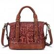 Retro Bark Folds Multi-function Handmade Handbag Cowhide Shoulder Bag
