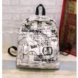 Harajuku Style Canvas Graffiti Map Casual Backpack &Schoolbag