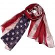 Vintage Stars Striped Scarf American Flag Print Women Scarf