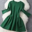 Elegant Slim Bubble Dress/Middle Long Sleeve Skirt