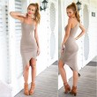 Sexy Soild Slim sleeveless Brace Dress