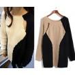 New personalized stitching Geometric Mosaic Sweater &Cardigan