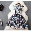 Fashion Butterfly 3D Printing Organza Slim Dress