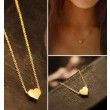 Cute Gold Heart shape Pendant Necklace