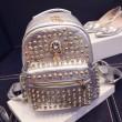 Rivet Fashion Diamond Skull College Backpacks