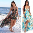 New Women's Bohemia Long Flower Summer Dresses Chiffon Beach Dress