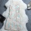 Elegant Mesh Embroidered Sequined A Line Dress