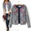 Retro Printed Blue and White Porcelain Cotton Jacket