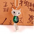 Cute Fashion Crystal Fox Rhinestone Sweater Necklace