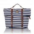 Navy Stripe Multifunction School Travel Backpack  Handbag Shoulder Bag Messenger Bag