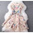 Unique Exquisite Embroidery  Palace Flower Party Dress