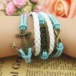 Retro Anchor Love Infinity Weave Bracelet