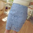 Summer New High Waist Short Paragraph Slim Hollow Out Lace Skirts